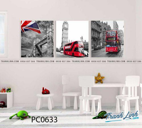 Bo tranh Canvas treo tuong trang tri phong khach phong canh PC0633