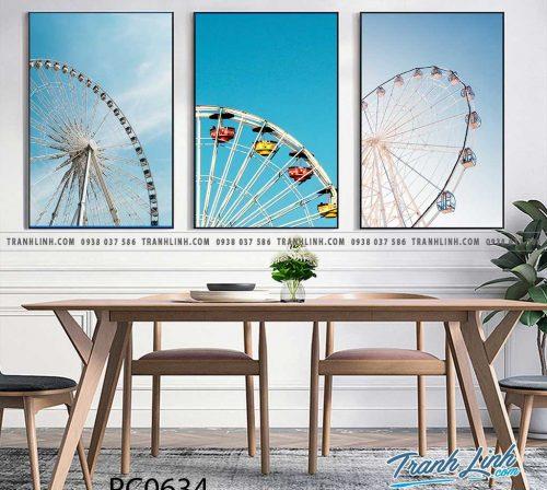 Bo tranh Canvas treo tuong trang tri phong khach phong canh PC0634