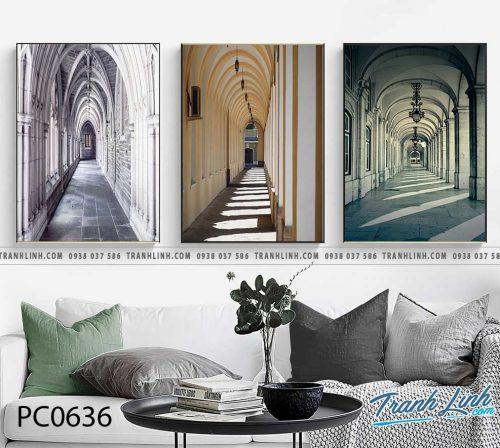 Bo tranh Canvas treo tuong trang tri phong khach phong canh PC0636