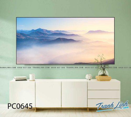 Bo tranh Canvas treo tuong trang tri phong khach phong canh PC0645