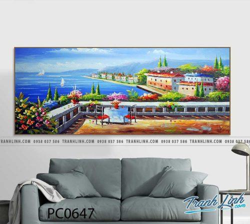 Bo tranh Canvas treo tuong trang tri phong khach phong canh PC0647