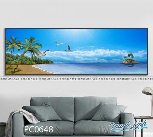 Bo tranh Canvas treo tuong trang tri phong khach phong canh PC0648