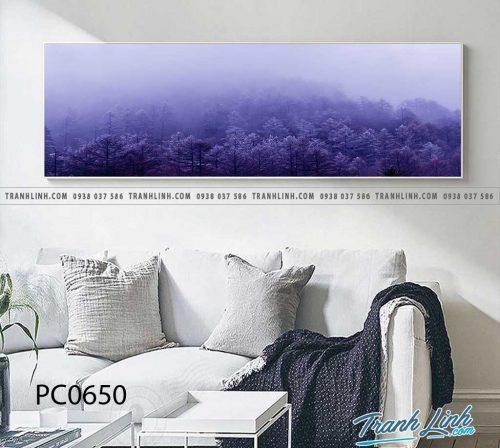 Bo tranh Canvas treo tuong trang tri phong khach phong canh PC0650