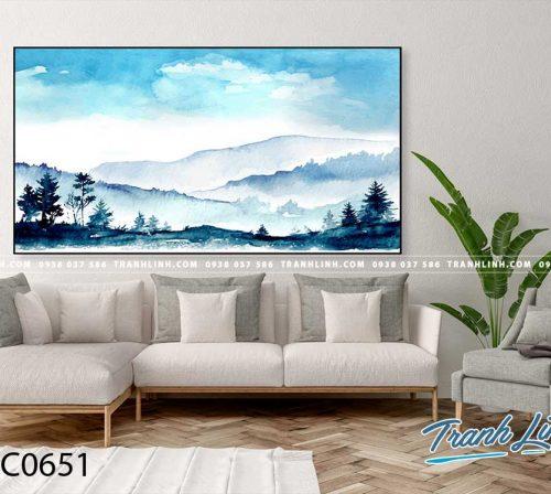 Bo tranh Canvas treo tuong trang tri phong khach phong canh PC0651
