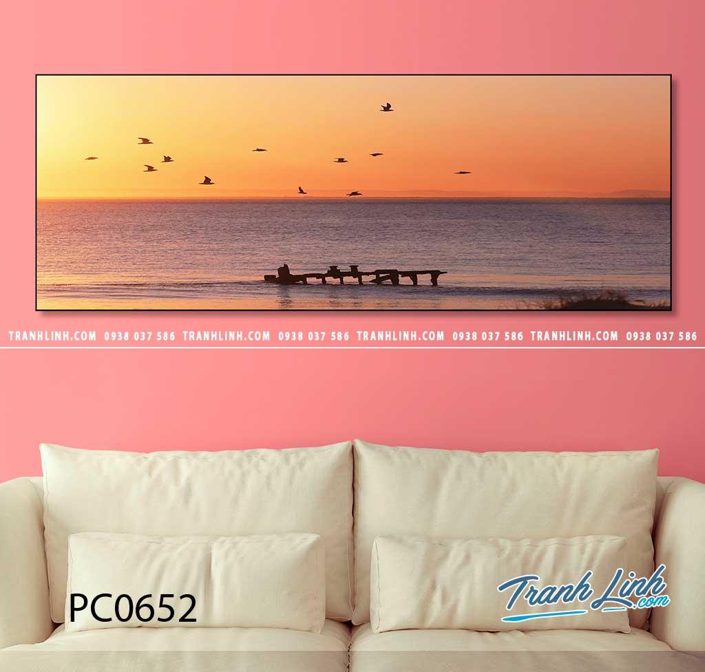 Bo tranh Canvas treo tuong trang tri phong khach phong canh PC0652