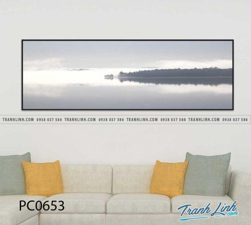 Bo tranh Canvas treo tuong trang tri phong khach phong canh PC0653