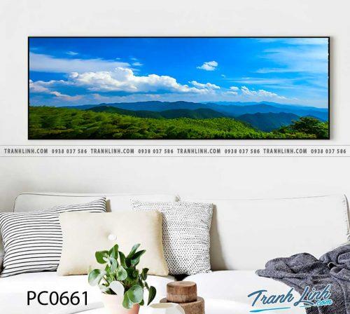 Bo tranh Canvas treo tuong trang tri phong khach phong canh PC0661