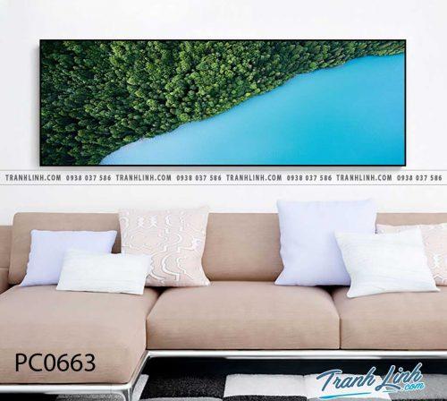 Bo tranh Canvas treo tuong trang tri phong khach phong canh PC0663
