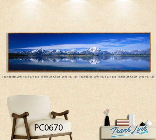 Bo tranh Canvas treo tuong trang tri phong khach phong canh PC0670