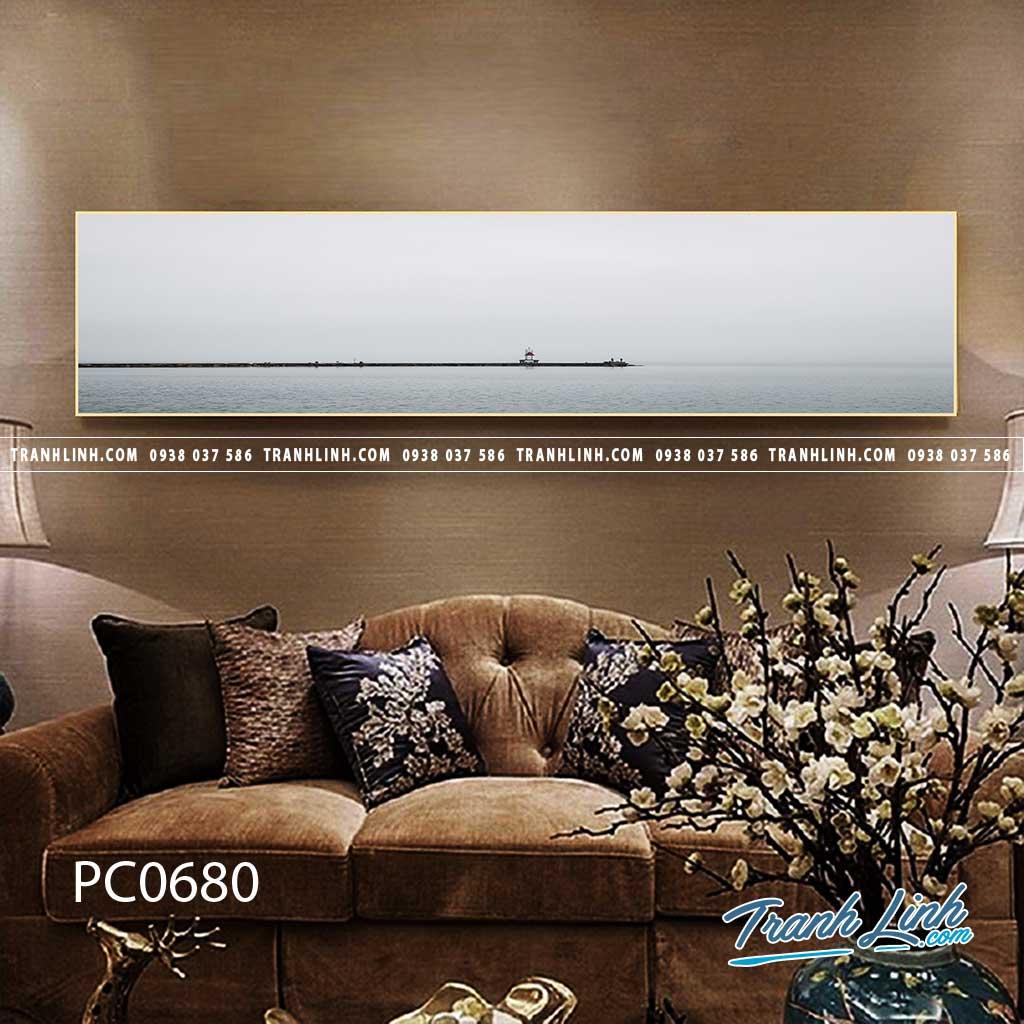 Bo tranh Canvas treo tuong trang tri phong khach phong canh PC0680