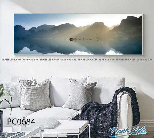 Bo tranh Canvas treo tuong trang tri phong khach phong canh PC0684