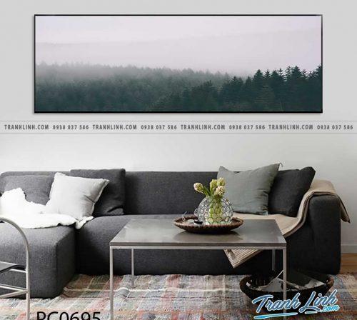 Bo tranh Canvas treo tuong trang tri phong khach phong canh PC0695