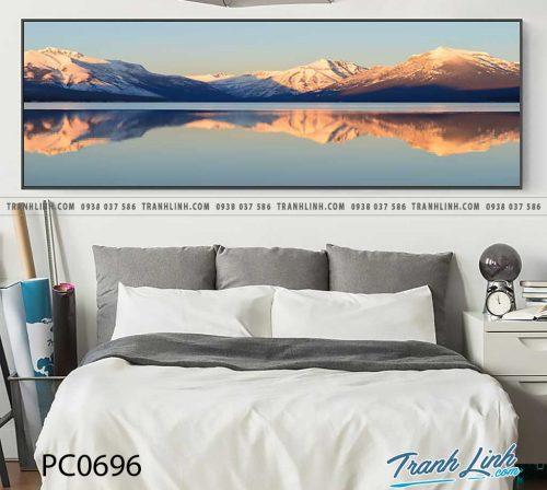 Bo tranh Canvas treo tuong trang tri phong khach phong canh PC0696
