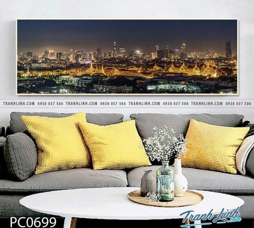 Bo tranh Canvas treo tuong trang tri phong khach phong canh PC0699