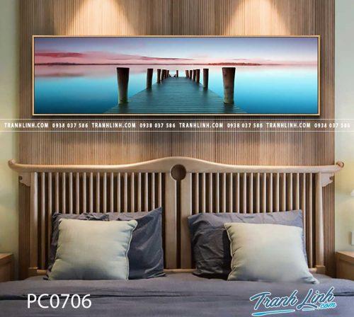 Bo tranh Canvas treo tuong trang tri phong khach phong canh PC0706