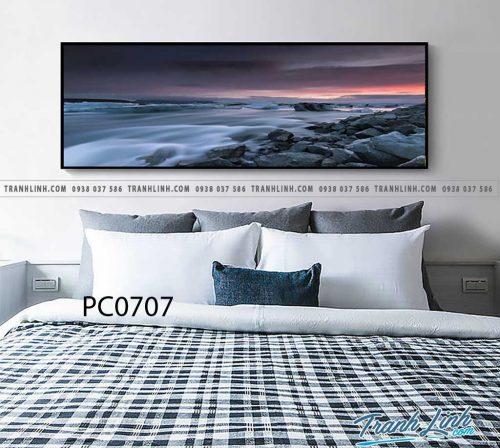 Bo tranh Canvas treo tuong trang tri phong khach phong canh PC0707