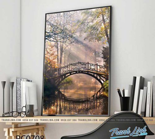 Bo tranh Canvas treo tuong trang tri phong khach phong canh PC0708