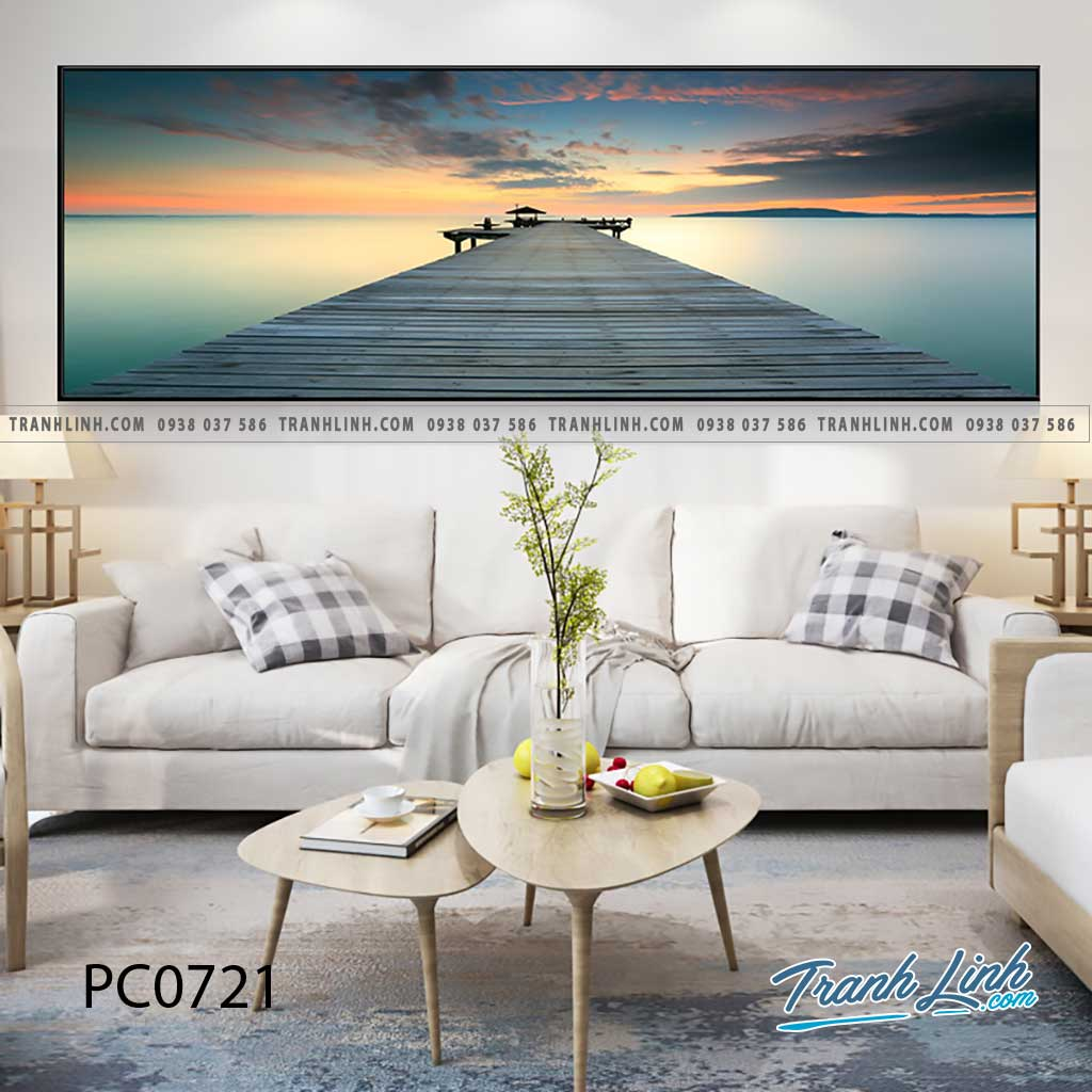 Bo tranh Canvas treo tuong trang tri phong khach phong canh PC0721