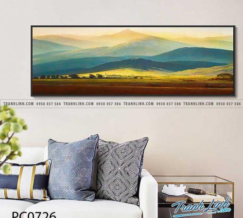 Bo tranh Canvas treo tuong trang tri phong khach phong canh PC0726