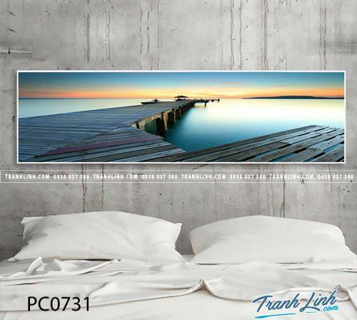 Bo tranh Canvas treo tuong trang tri phong khach phong canh PC0731