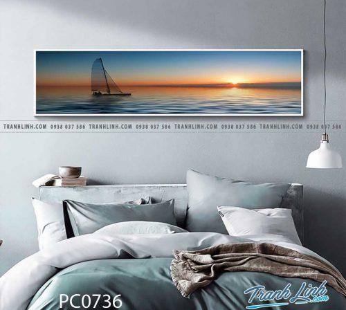 Bo tranh Canvas treo tuong trang tri phong khach phong canh PC0736