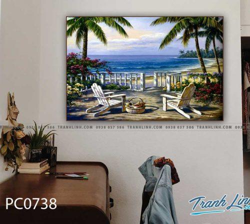 Bo tranh Canvas treo tuong trang tri phong khach phong canh PC0738