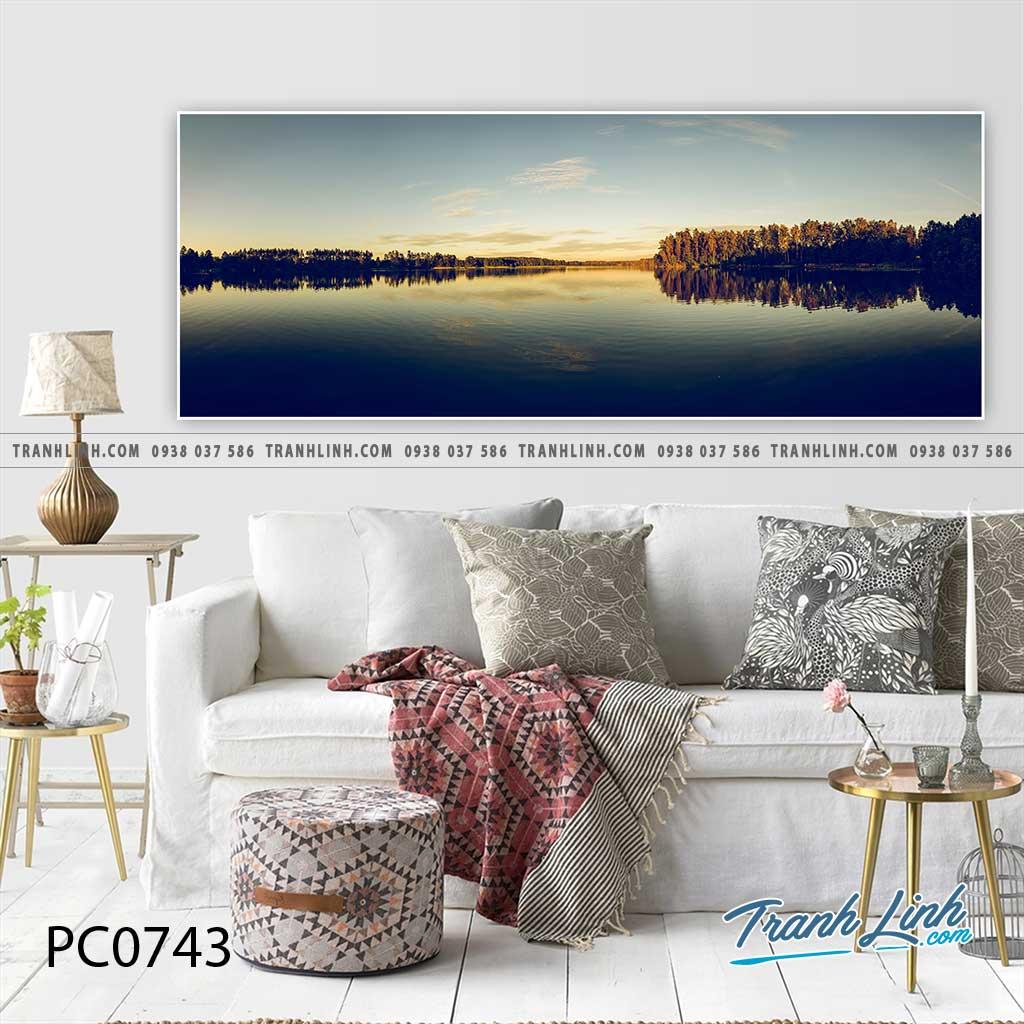 Bo tranh Canvas treo tuong trang tri phong khach phong canh PC0743