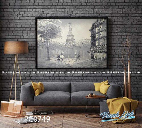 Bo tranh Canvas treo tuong trang tri phong khach phong canh PC0749