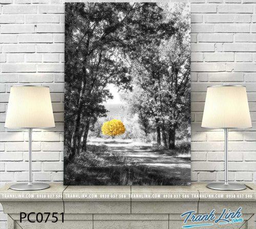 Bo tranh Canvas treo tuong trang tri phong khach phong canh PC0751