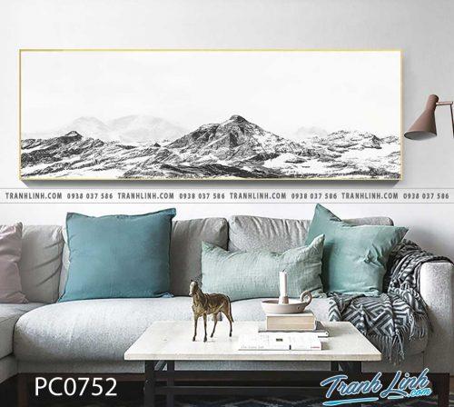Bo tranh Canvas treo tuong trang tri phong khach phong canh PC0752