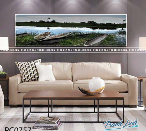 Bo tranh Canvas treo tuong trang tri phong khach phong canh PC0757
