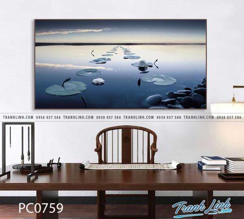 Bo tranh Canvas treo tuong trang tri phong khach phong canh PC0759