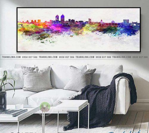 Bo tranh Canvas treo tuong trang tri phong khach phong canh PC0773