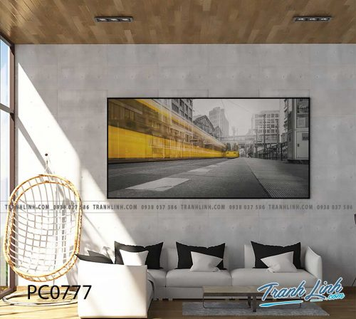 Bo tranh Canvas treo tuong trang tri phong khach phong canh PC0777