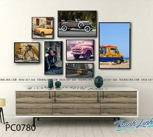 Bo tranh Canvas treo tuong trang tri phong khach phong canh PC0780