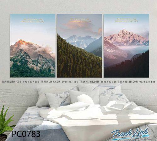 Bo tranh Canvas treo tuong trang tri phong khach phong canh PC0783