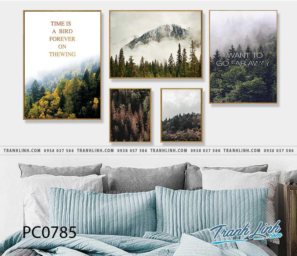 Bo tranh Canvas treo tuong trang tri phong khach phong canh PC0785