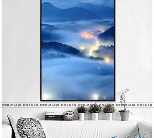 Bo tranh Canvas treo tuong trang tri phong khach phong canh PC0796