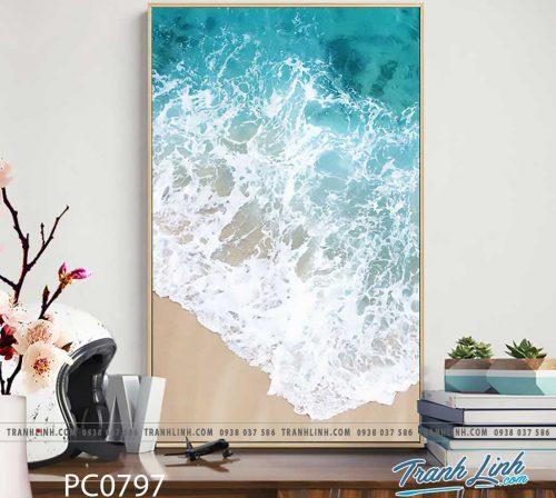 Bo tranh Canvas treo tuong trang tri phong khach phong canh PC0797