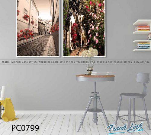 Bo tranh Canvas treo tuong trang tri phong khach phong canh PC0799