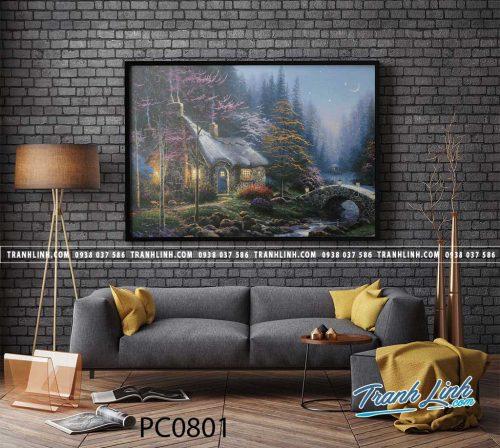 Bo tranh Canvas treo tuong trang tri phong khach phong canh PC0801
