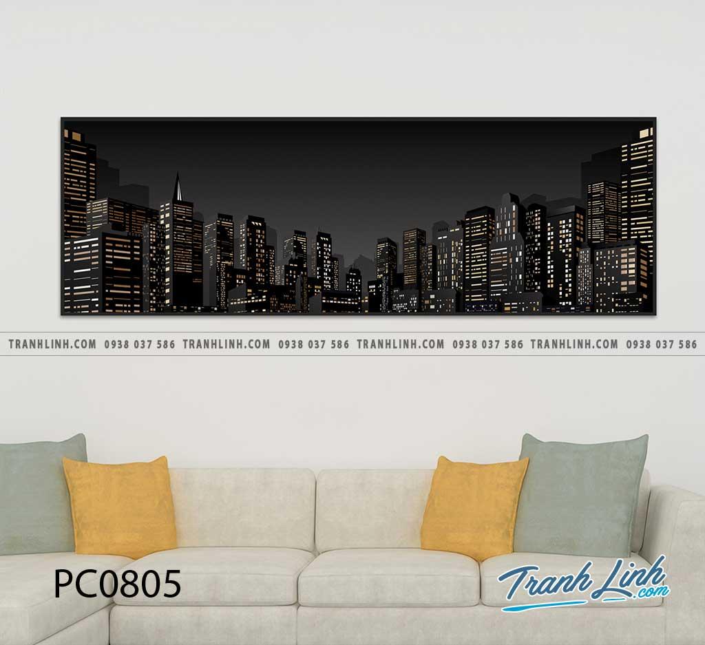 Bo tranh Canvas treo tuong trang tri phong khach phong canh PC0805