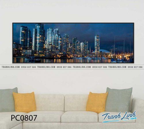 Bo tranh Canvas treo tuong trang tri phong khach phong canh PC0807