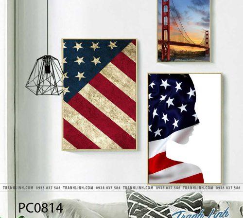Bo tranh Canvas treo tuong trang tri phong khach phong canh PC0814