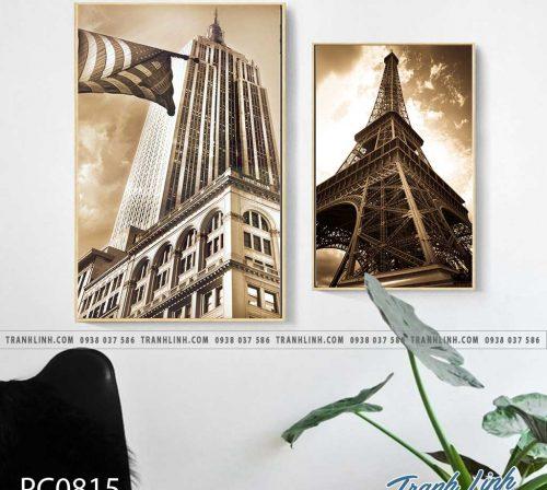 Bo tranh Canvas treo tuong trang tri phong khach phong canh PC0815
