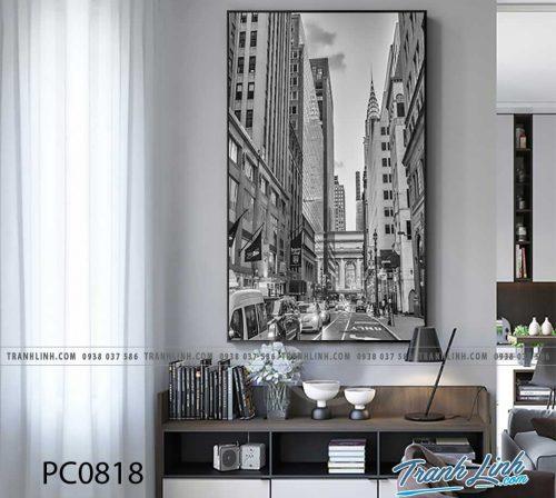 Bo tranh Canvas treo tuong trang tri phong khach phong canh PC0818