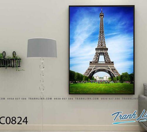Bo tranh Canvas treo tuong trang tri phong khach phong canh PC0824