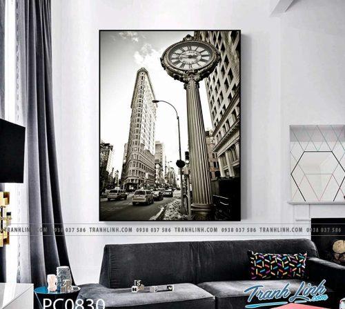 Bo tranh Canvas treo tuong trang tri phong khach phong canh PC0830