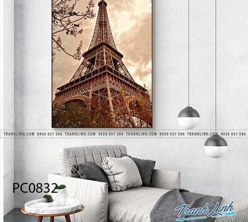 Bo tranh Canvas treo tuong trang tri phong khach phong canh PC0832