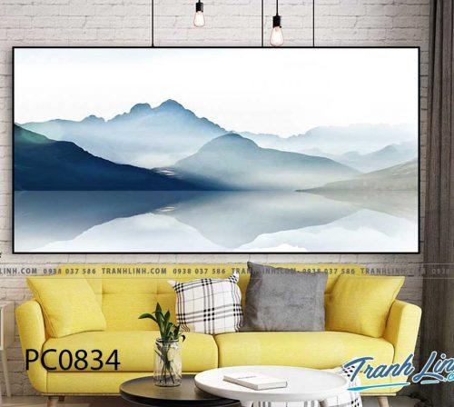 Bo tranh Canvas treo tuong trang tri phong khach phong canh PC0834
